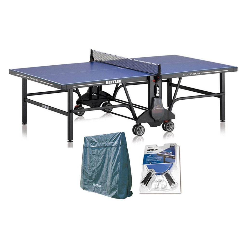 Kettler-Champ-5.0-Outdoor-Table-Tennis-Table-with-Outdoor-Accessory-Bundle